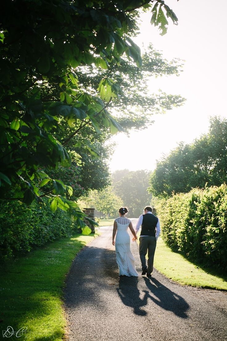 Langley Priory Wedding Photography. Sunset, summer evening, shadow play