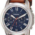 Fossil Montre Homme FS5210: Taille du boîtier : 44mm - Épaisseur du boîtier :12mm Largeur du bracelet :22mm - Circonférence du bracelet :…