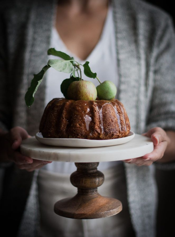 Cardamom Spiced Whole Wheat Apple Cake Honey Caramel - The Kitchen McCabe
