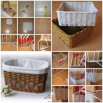 Weaving Baskets with Newspaper Wicker