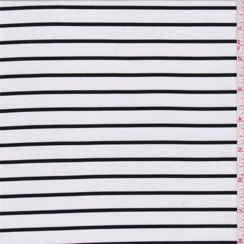 White/Black Stripe Jersey Knit - 35734 - | Discount By The Yard | Fashion Fabrics