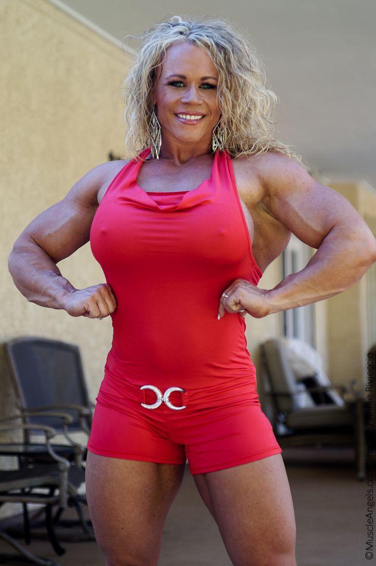 Aleesha young muscle women body building women