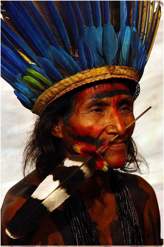 vecchio capo tribù pajé mamaindé brasiliano