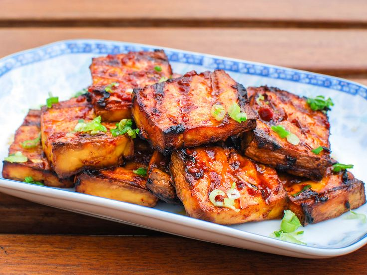 Grilled Tofu Witih Chipotle-Miso Sauce by seriouseats: Chipotle and miso come from two different cooking traditions, but they make great bedfellows in this recipe for grilled tofu—first as a marinade, then as a sauce. #Tofu #Miso #Chipotle