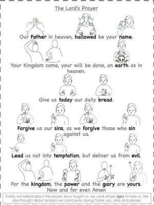 Teaching the Lord's Prayer-  I'd love to have all children learn this, then present it to the congregation !!!
