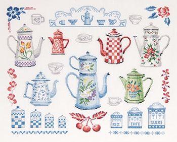 free DMC Tea Pots