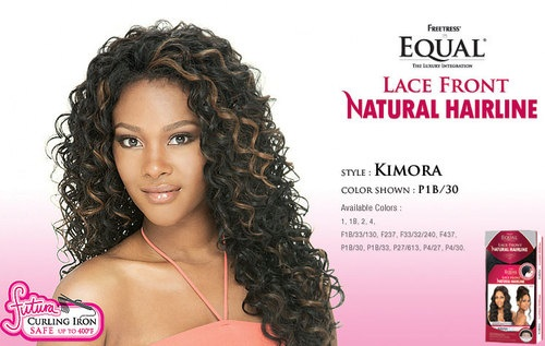 Kimora Equal Lace Front Natural Hairline Long Curly Wig   eBay $37