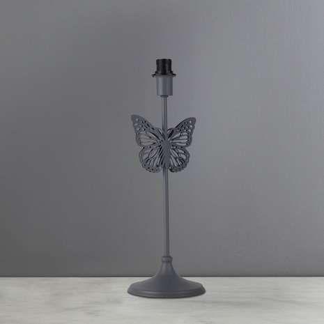 Rouen Grey Butterfly Stem Table Lamp Base | Dunelm