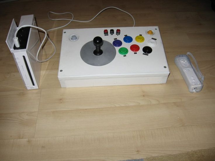My Homemade Wii Arcade Joystick Made By Hacking A Wii