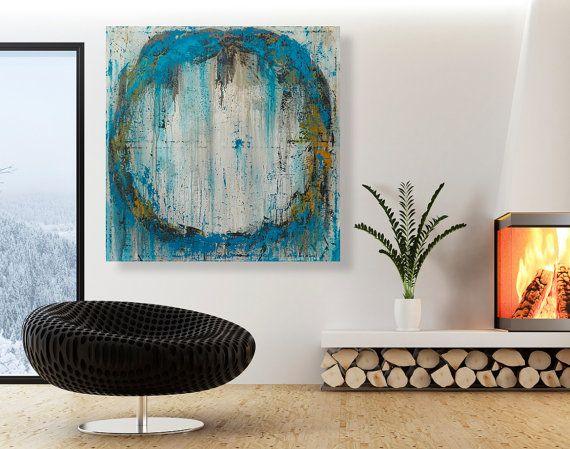 Abstract Painting Large Original Circle Wall Art 32x32