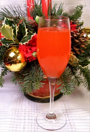 non-alcoholic champagne | ginger ale, grenadine, OJ, grapefruit juice, simple syrup