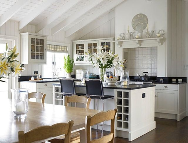 Welcome back to the Charming Home Series here at Town and Country Living! Today's tour features a lovely cottage home by the sea that I found over at Houzz. We're taking a little break from the Christmas festivities to showcase a charmingly elegant home. Farmhouse Entry by South West Interior Designers & Decorators Stephanie Dunning …