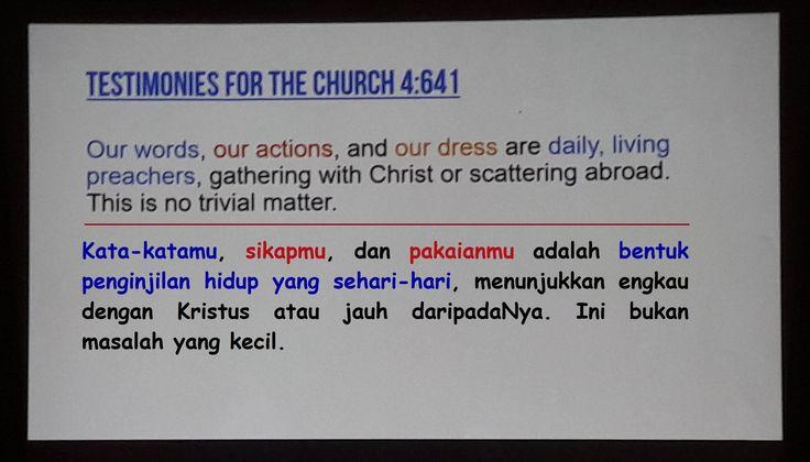 Seberapa pentingnyakah sikap, pakaian, dan kata-kata kita? Adakah hubungannya dengan Tuhan? Mari lihat :)  #laodikia #laodicea #Tuhan #advent #Sabat #reformasi #bertobatlah #jadilah #contoh #gereja
