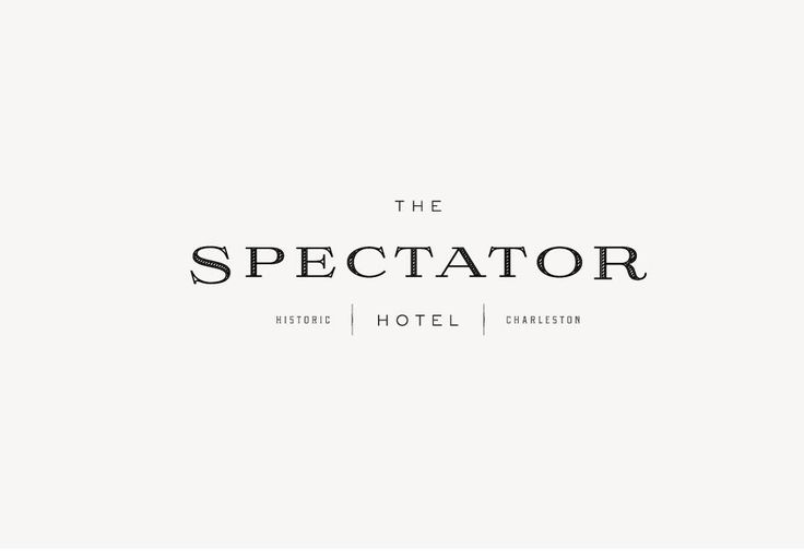 love love this branding suite for The Spectator Hotel {by Stitch Design Co}