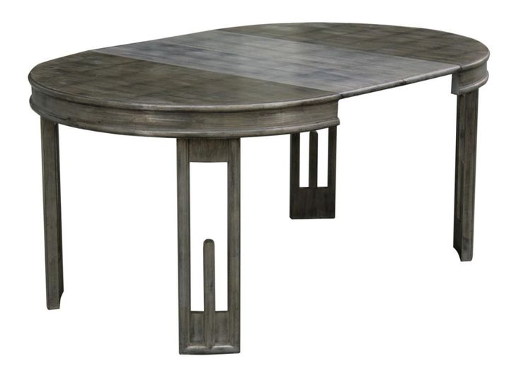 Patinated Silver Leaf Dining Table By James Mont