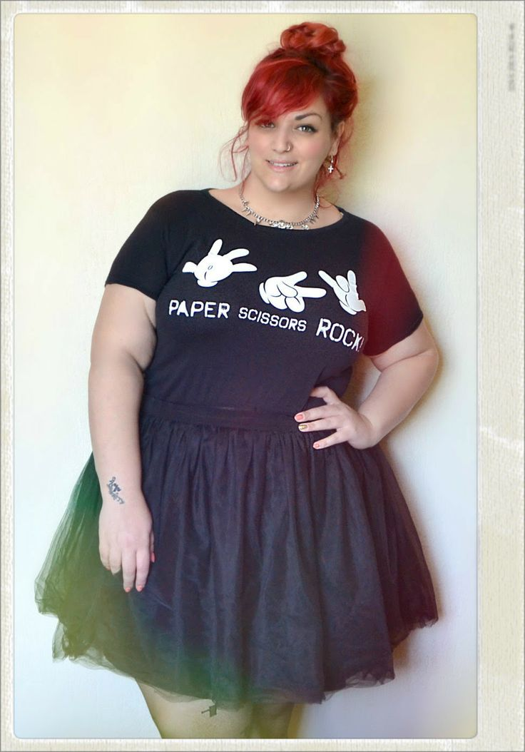Curvy World: Paper,scissors and Rock - Plus Size Outfit Tulle Skirt by Flavia De Masi