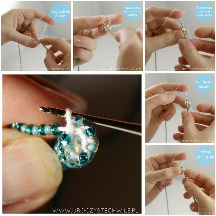 Instrukcja jak zrobić bransoletkę z koralików. Beading crochet