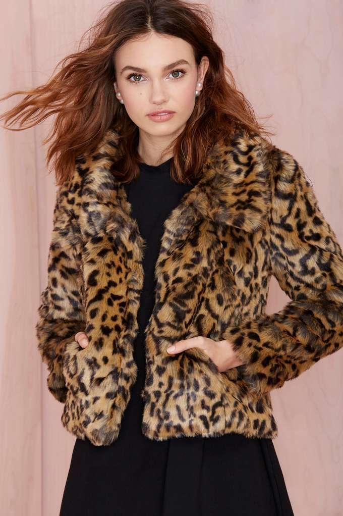 Bardot Leopard Crop Jacket | Shop What's New at Nasty Gal