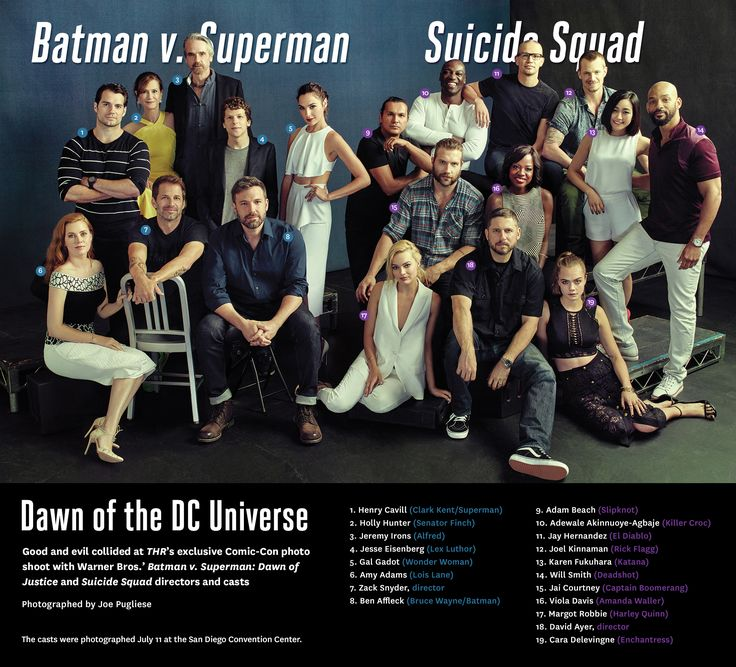 'Suicide Squad,' 'Batman v. Superman': Behind the Scenes of THR's DC Universe Photo Shoot - Hollywood Reporter