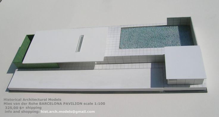 Mies van der Rohe, BARCELONA PAVILION, scale 1:100