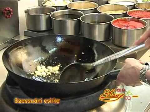 Sherry Étterem- és Kávézólánc - Szecsuáni csirke recept
