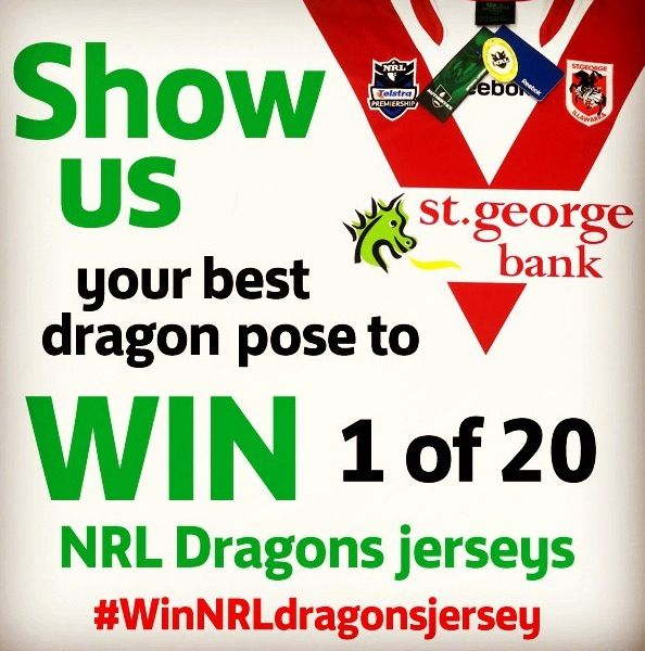 This one is for the NRL fans!  Follow @Christa Hogan Energy on Twitter and Instagram and tag your DRAGONS POSE selfie with #WinNRLdragonsjersey to win! #MomentumEnergy   Go RedV and StGeorge Illawarra Dragons!  Terms at momentumenergy.com.au/competitions