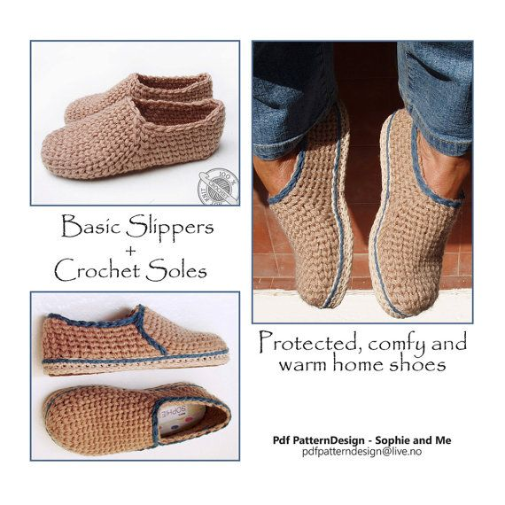 Knitting Pattern For Slippers With Soles : 1000+ ideas about Crochet Sole on Pinterest Crocheting, Crocheted slippers ...