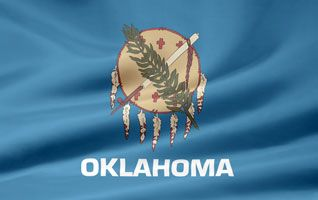 Picture of the Oklahoma state flag.