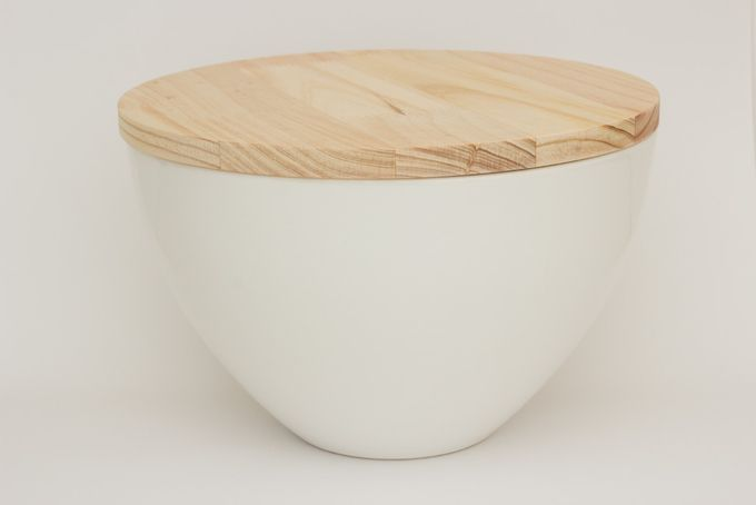 Salad Bowl & Wooden Lid by Friday Revolution