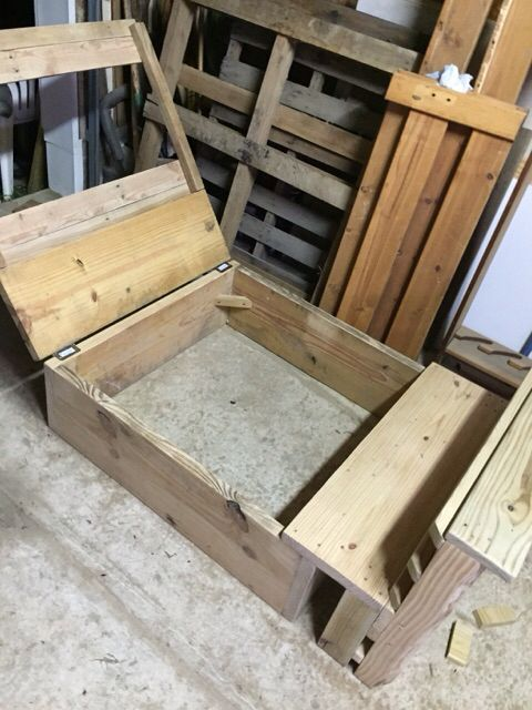 Diy Kids Sandbox With Lid And A Cute Bench To Sit
