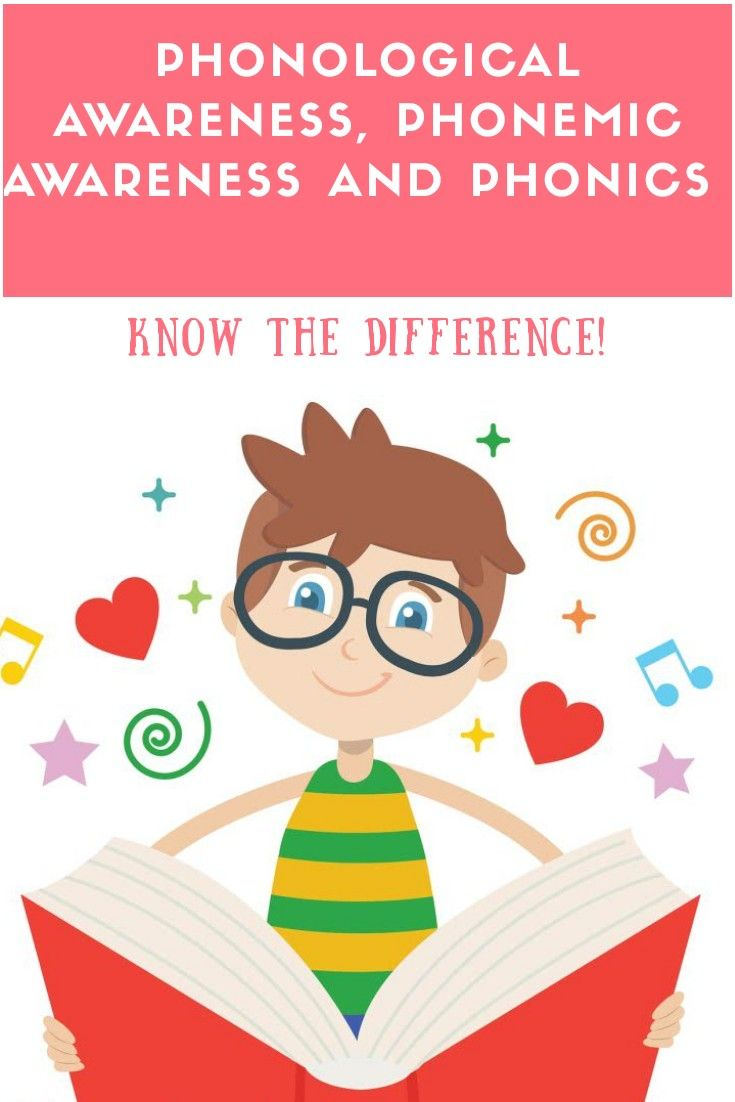 Phonological Awareness, Phonemic Awareness and Phonics. Know the difference!
