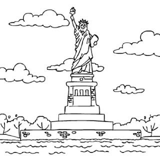 Statue of, Statue of liberty and Coloring pages on Pinterest