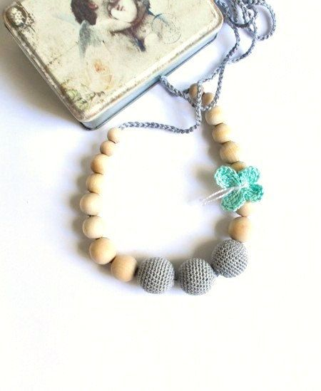 Excited to share one of favorites to my #etsy shop: Butterfly Nursing Necklace/Teething Necklace-Gray-Mother's day http://etsy.me/2j24EBe #jewelry #necklace #mothersday #babyandchildcare #teething #nursing #teethingnecklace #nursingnecklace #woodenteethingtoy