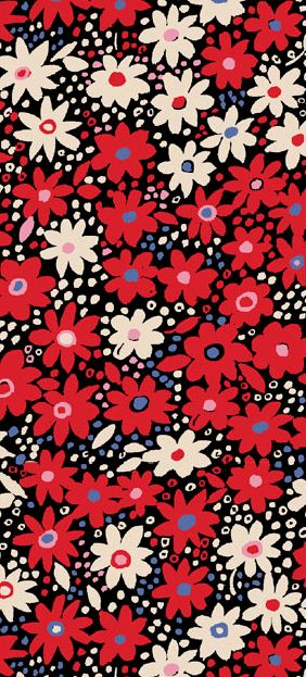 Happy colours- cute tiny little flowers with sweet dots in the space in between. Love it