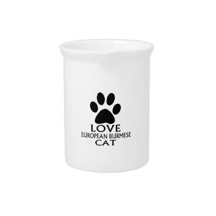 LOVE EUROPEAN BURMESE CAT DESIGNS PITCHER - kitchen gifts diy ideas decor special unique individual customized