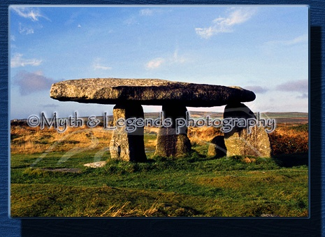 Lanyon Quoit, King Arthurs Table close to Men -an -tol.  It is rumoured that King Arthur took his last meal here, and also all of the chairs. Sorry people no picnicing :)