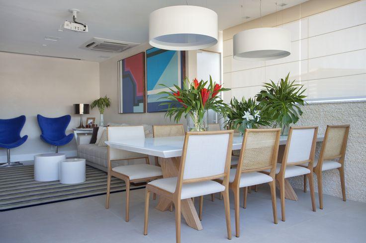Dining room by Mariana Camara arquitetura #bluemood #bluedecor #decor  #decor #decoration #livingroom #architecture #interni #interiordesign #project #design #decoration #brazilianinterior #braziliandesign