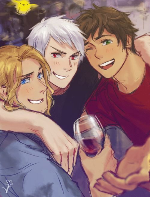 "Hetalia The Bad Friends trio, France, Prussia, and Spain. Awesome~  Please write ""Hetalia"" in wikipedia it's awesome"
