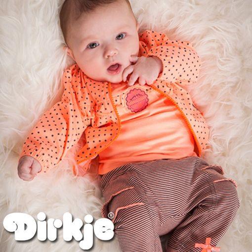 Elke dag een leuke outfit, gewoon omdat het leuk is! ♥Dirkje wintercollectie 2016/2017♥ #dirkje #babykleding #wintercollectie #oranje #dirkjebabywear #meisjes #stippen #strepen