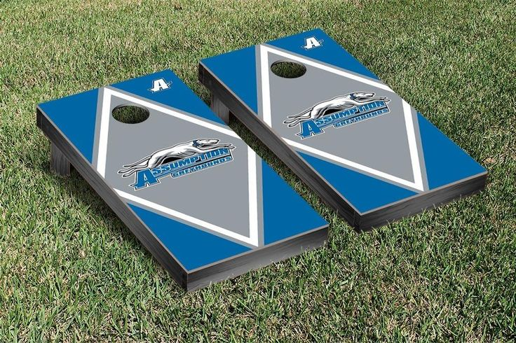 Assumption College Greyhounds Diamond Cornhole Bag Toss Game