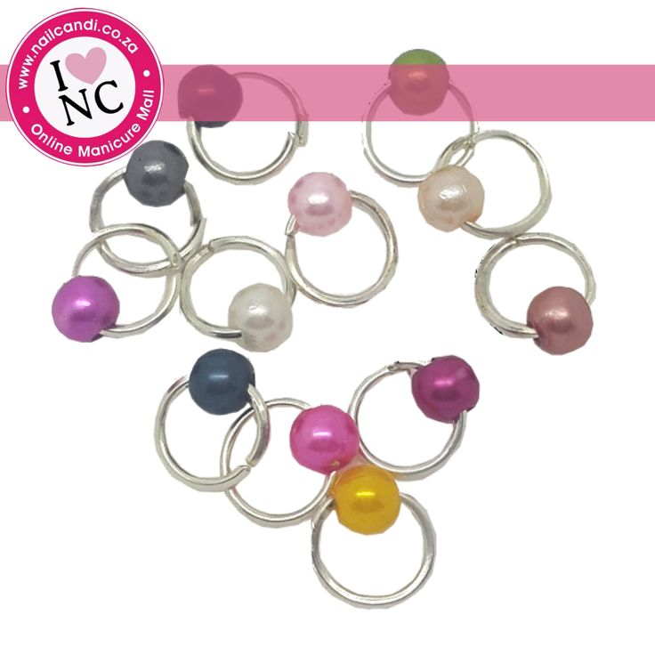 Piercing Pearls - Pack of 12 assorted coloured pearls