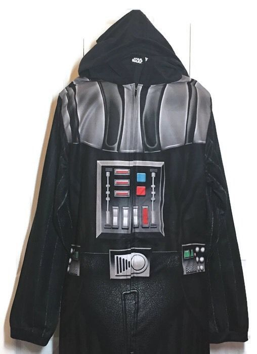 Star Wars Costume Darth Vader Adult Medium Fleece Pajamas One Piece Union Suit #BrieflyStated #CompleteOutfit