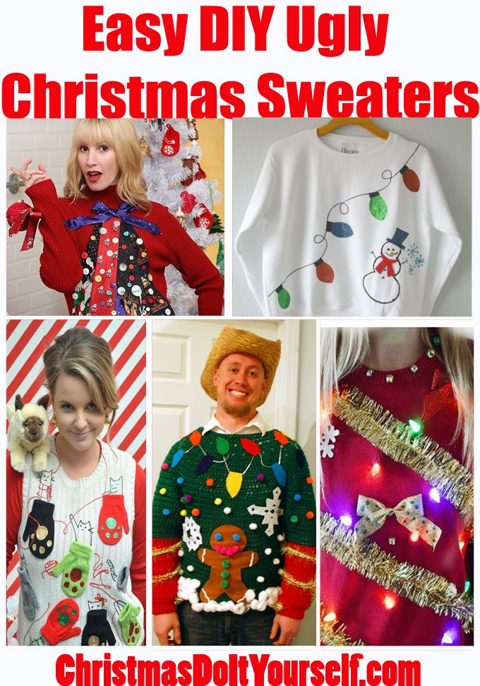 Create your own Ugly Christmas Sweater this year! Easy to do - remembered forever!