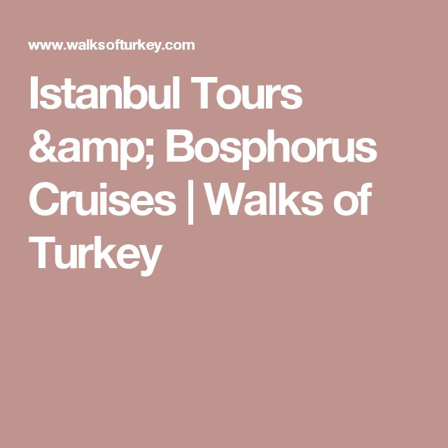 Istanbul Tours & Bosphorus Cruises | Walks of Turkey