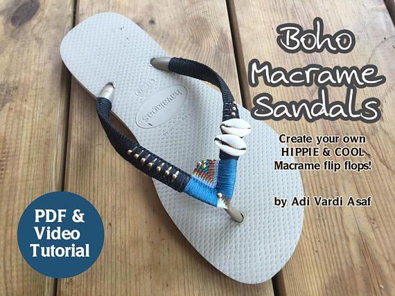 Mothers Day Gift Macrame Tutorial Boho Sandals Micro Macrame
