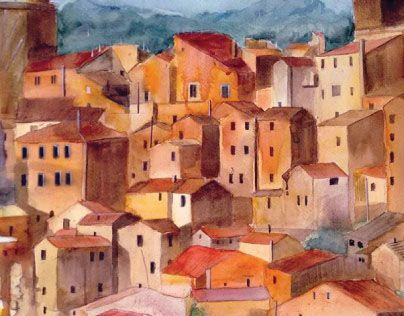 """Check out new work on my @Behance portfolio: """"Watercolor - Toscana"""" http://be.net/gallery/34031230/Watercolor-Toscana"""