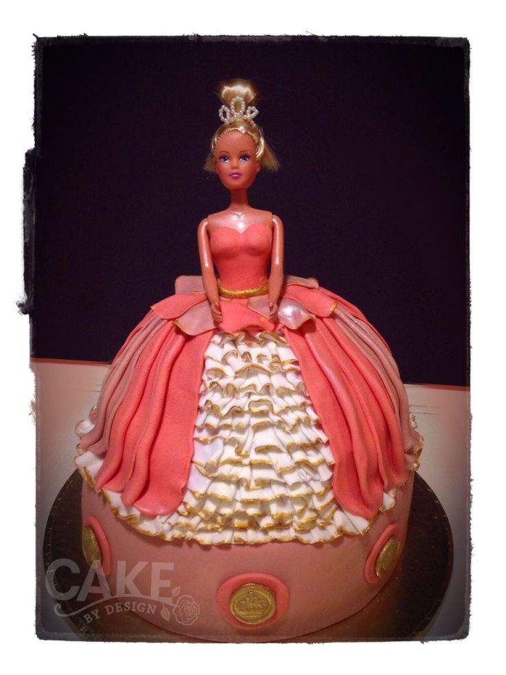 Princess cake. Made this for a young adult who decided to throw herself a princess party, ball gowns and all- and why ever not? :) www.cakebydesign.co.za