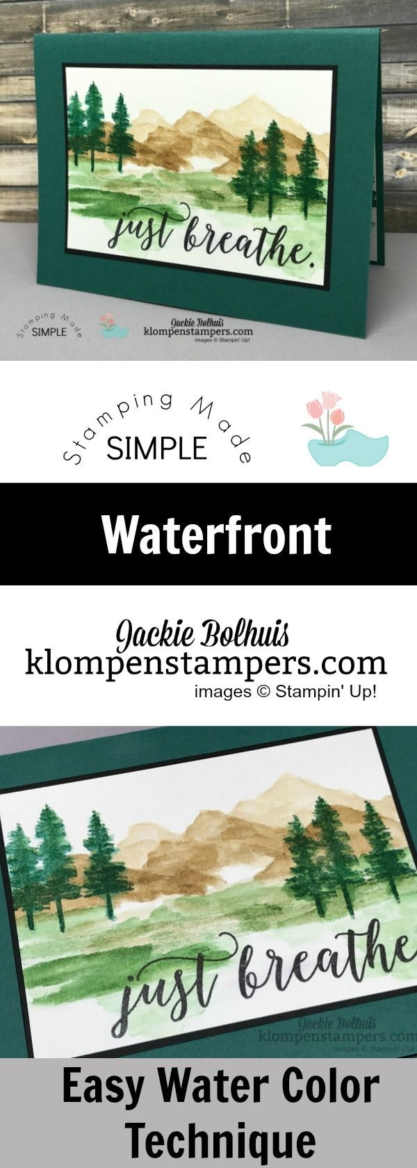 Learn an easy Watercoloring technique using Waterfront Stamp Set. Easy to follow Video instructions!
