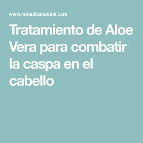 Tratamiento de Aloe Vera para combatir la caspa en el cabello