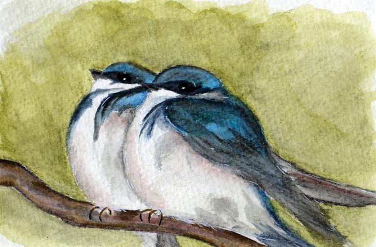 More birdie watercolors!